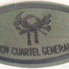 Militaria: PARCHE EMBLEMA DE PECHO VERDE FAENA BON CUARTEL GENERAL MONTAÑA. Lote 278415173
