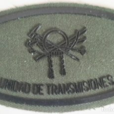 Militaria: PARCHE EMBLEMA DE PECHO EN VERDE FAENA DE LA UNIDAD DE TRANSMISIONES MONTAÑA. Lote 278418573