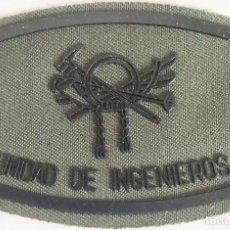 Militaria: PARCHE EMBLEMA DE PECHO EN VERDE FAENA DE LA UNIDAD DE INGENIEROS MONTAÑA. Lote 278418598
