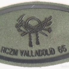 Militaria: PARCHE EMBLEMA DE PECHO VERDE FAENA DEL RCZM VALLADOLID 65. Lote 278418633