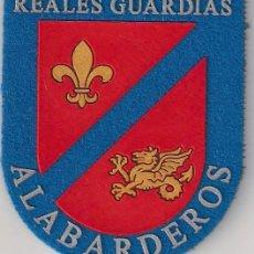 Militaria: PARCHE EMBLEMA ESCUDO GUARDIA REAL EPOCA ACTUAL REALES GUARDIAS ALABARDEROS CON VELCRO. Lote 278420243