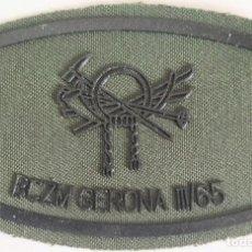 Militaria: PARCHE EMBLEMA DE PECHO VERDE FAENA BCZM GERONA III/65. Lote 278431958