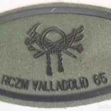 Militaria: PARCHE EMBLEMA DE PECHO VERDE FAENA DEL RCZM VALLADOLID 65. Lote 278431988