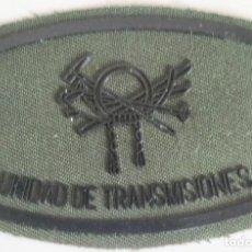 Militaria: PARCHE EMBLEMA DE PECHO EN VERDE FAENA DE LA UNIDAD DE TRANSMISIONES MONTAÑA. Lote 278432043