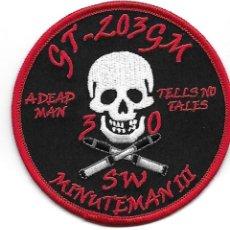 Militaria: PARCHE USAF MINUTEMAN III GT 203GM. Lote 279565233