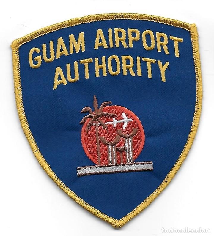PARCHE POLICIA AEROPUERTO DE GUAM (Militar - Parches de tela )
