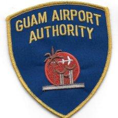 Militaria: PARCHE POLICIA AEROPUERTO DE GUAM. Lote 279565513