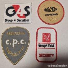 Militaria: SEGURIDAD PRIVADA VIGILANTES JURADOS LOTE DE PARCHES BORDADOS LOTE3. Lote 279573833