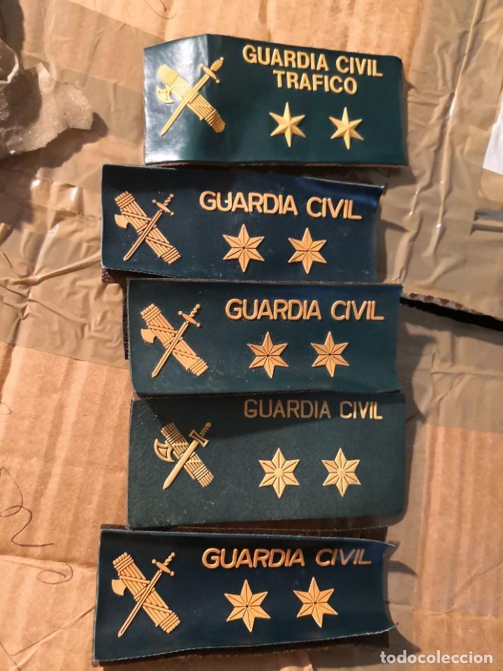 5 PARCHE EMBLEMA PLÁSTICO CON VELTRO GUARDIA CIVIL - TIRA DE PECHO 12X5CM (Militar - Parches de tela )