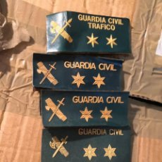Militaria: 5 PARCHE EMBLEMA PLÁSTICO CON VELTRO GUARDIA CIVIL - TIRA DE PECHO 12X5CM. Lote 282954633