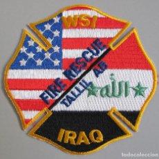 Militaria: BOMBEROS MILITARES - TALLIL AIR BASE - IRAQ - PARCHE. Lote 283370948