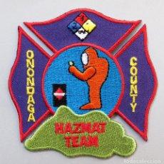 Militaria: PARCHE BOMBERO USA - ONONDAGA COUNTY HAZMAT TEAM - MATERIAS PELIGROSAS. Lote 284105638