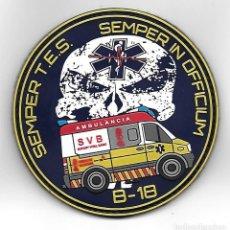 Militaria: PARCHE AMBULANCIA TECNICOS EMERGENCIAS SANITARIAS VALENCIA. Lote 285047973