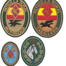 Militaria: 4 PARCHES DE GUARDIA CIVIL DE LA UNIDAD DE CABALLERÍA. Lote 286198463