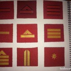 Militaria: LOTE 9 PARCHES GALONES PARA DEPORTE MILITARES. Lote 288415053
