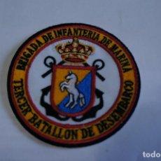 Militaria: MAGNIFICO PARCHE BORDADO BRIGADA DE INFANTERIA DE MARINA TERCIO BATALLON DE DESEMBARCO. Lote 288430558