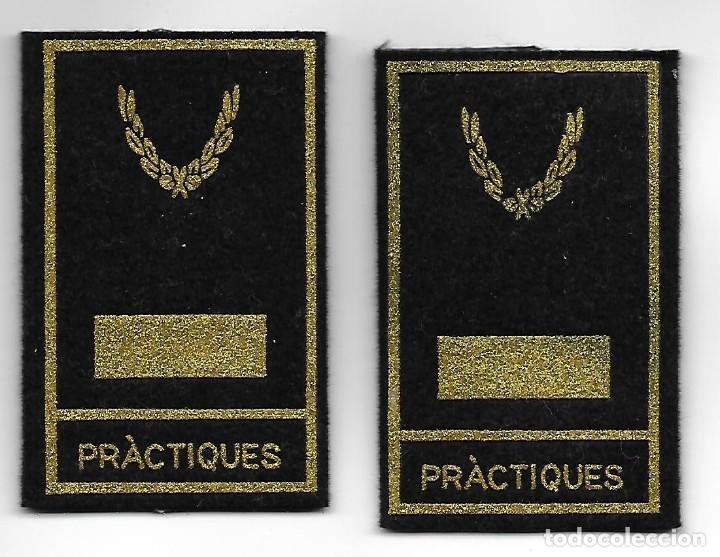 MANGUITOS POLICIA MOSSOS DE ESCUADRA INSPECTOR EN PRACTICAS (Militar - Parches de tela )
