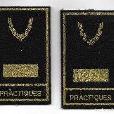 Militaria: MANGUITOS POLICIA MOSSOS DE ESCUADRA INSPECTOR EN PRACTICAS. Lote 288614493
