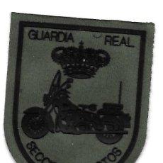Militaria: PARCHE GUARDIA REAL SECCION DE MOTOS VERDE. Lote 294956838