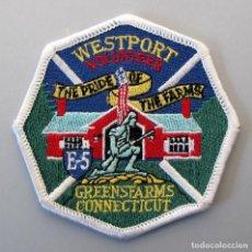 Militaria: PARCHE BOMBERO USA - WESTPORT VOLUNTEER - CONNECTICUT. Lote 294964748