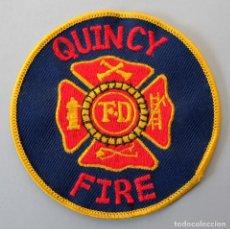 Militaria: PARCHE BOMBERO USA - QUINCY FIRE. Lote 294965043