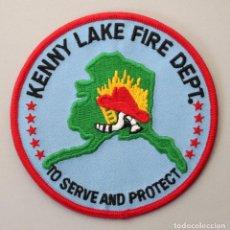 Militaria: PARCHE BOMBERO USA - KENNY LAKE FIRE DEPT. - ALASKA. Lote 294965103