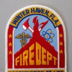 Militaria: PARCHE BOMBERO USA - WINTER HAVEN - FLORIDA. Lote 294965228