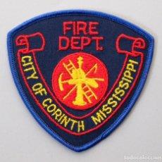 Militaria: PARCHE BOMBERO USA - CITY OF CORINTH FIRE DEPT. - MISSISSIPPI. Lote 294965558