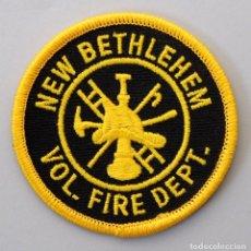 Militaria: PARCHE BOMBERO USA - NEW BETHLEHEM VOL. FIRE DEPT. - PENNSILVANIA. Lote 294965693