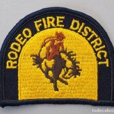 Militaria: PARCHE BOMBERO USA - RODEO FIRE DISTRICT - CALIFORNIA. Lote 294965918