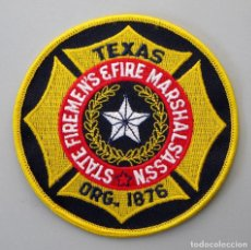 Militaria: PARCHE BOMBERO USA - STATE FIREMEN'S & FIRE MARSHALS ASSN - TEXAS. Lote 294965988
