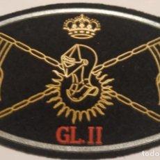 Militaria: PARCHE EMBLEMA DE PECHO EN NEGRO DEL GRUPO LOGÍSTICO II CASTILLEJOS. Lote 295360013