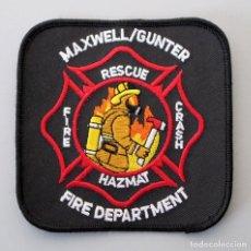 Militaria: PARCHE BOMBERO MILITAR USA - MAXWELL/GUNTER AIR FORCE BASE - MONTGOMERY - ALABAMA. Lote 295372518