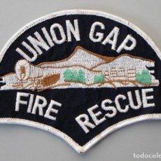 Militaria: PARCHE BOMBERO USA - UNION GAP - WASHINGTON. Lote 295372673