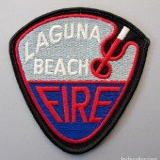 Militaria: PARCHE BOMBERO USA - LAGUNA BEACH - CALIFORNIA. Lote 295372703