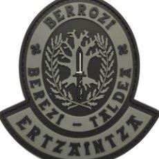 Militaria: PARCHE POLICÍA ERTZAINTZA (BERROZI) PVC 2D CON VELCRO. Lote 296728413