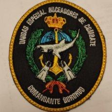Militaria: PARCHE EMBLEMA BORDADO UNIDAD ESPECIAL BUCEADORES DE COMBATE COMANDANTE GORORDO. Lote 296728438