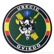 Militaria: PARCHE POLICÍA , GUARDIA CIVIL USECIC OVIEDO (PVC 2D CON VELCRO). Lote 296728858