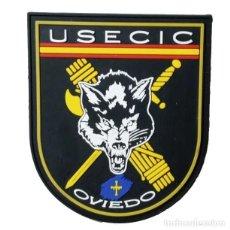 Militaria: PARCHE POLICÍA , GUARDIA CIVIL USECIC OVIEDO (PVC 2D CON VELCRO). Lote 296728958