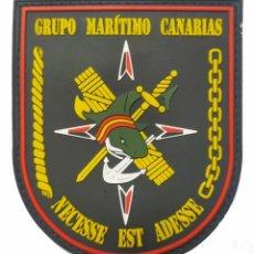 Militaria: PARCHE POLICÍA , GUARDIA CIVIL SERVICIO MARÍTIMO CANARIAS (PVC 2D CON VELCRO). Lote 296729038