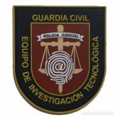 Militaria: PARCHE POLICÍA , GUARDIA CIVIL EQUIPO INVESTIGACION TECNOLOGICA (PVC 2D CON VELCRO). Lote 296729143