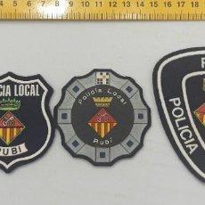 Militaria: LOTE 3 PARCHES POLICIA LOCAL RUBI ENVIO CERTIFICADO GRATUITO. Lote 296782188