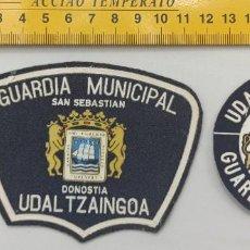 Militaria: LOTE 2 PARCHES POLICIA LOCAL DONOSTIA SAN SEBASTIAN GUARDIA MUNICIPAL ENVIO CERTIFICADO GRATUITO. Lote 296783313