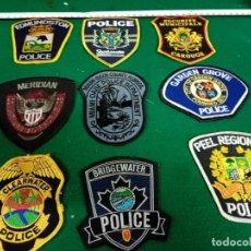 Militaria: 9 PARCHES POLICIA EEUU. Lote 296786733