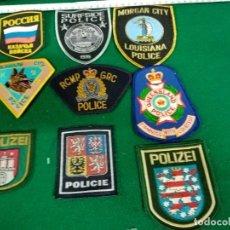 Militaria: 9 PARCHES POLICIA. Lote 296786818