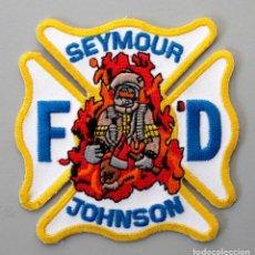 Militaria: PARCHE BOMBEROS MILITARES USA - SEYMOUR JOHNSON AIR FORCE BASE - NORTH CAROLINA. Lote 296898588
