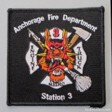 Militaria: PARCHE BOMBERO USA - ANCHORAGE - ALASKA - STATION 3. Lote 296899303