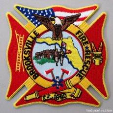 Militaria: PARCHE BOMBERO USA - BROOKSVILLE - FLORIDA. Lote 296899823