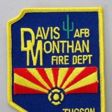 Militaria: PARCHE BOMBEROS MILITARES USA - DAVIS MONTHAN AIR FORCE BASE - TUCSON - ARIZONA. Lote 296900013
