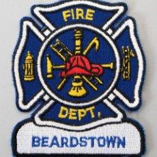 Militaria: PARCHE BOMBERO USA - BEARDSTOWN - ILLINOIS. Lote 296900158